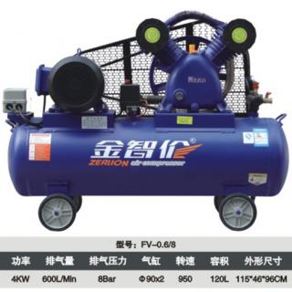 0.6/8-120L-4KW-103KG皮带式空气压缩机